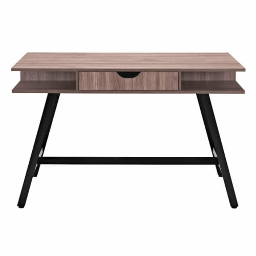 Turnabout Office Desk - Birch Perspective: back