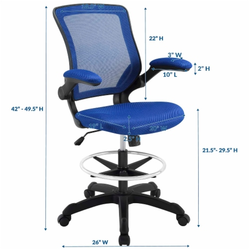 Veer Drafting Chair Perspective: back
