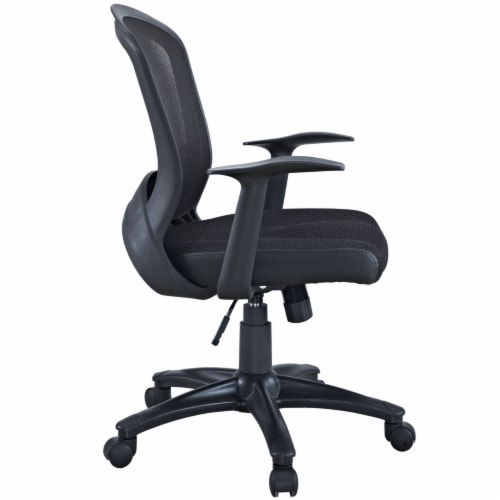 Black Pulse Mesh Office Chair Perspective: back