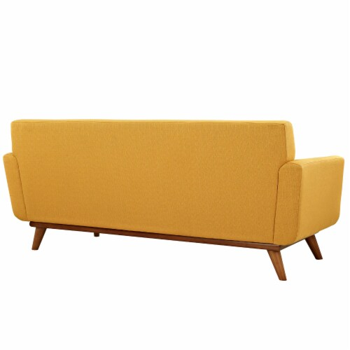 Engage Upholstered Fabric Loveseat - Citrus Perspective: back