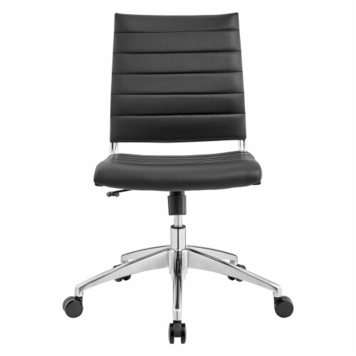 Black Jive Armless Mid Back Office Chair Perspective: back