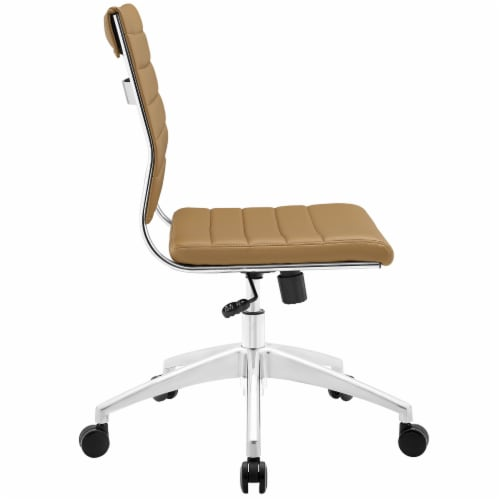 Tan Jive Armless Mid Back Office Chair Perspective: back