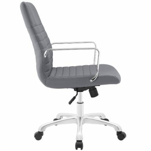 Gray Finesse Mid Back Office Chair Perspective: back