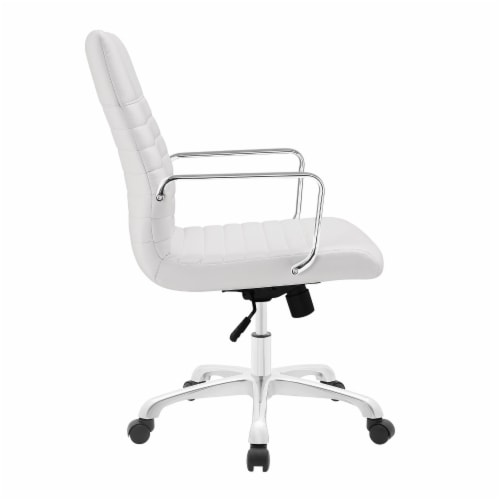 White Finesse Mid Back Office Chair Perspective: back