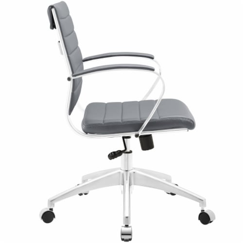 Gray Jive Mid Back Office Chair Perspective: back