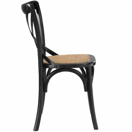 Gear Dining Side Chair - Black Perspective: back