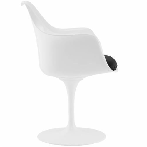 Lippa Dining Vinyl Armchair - Black Perspective: back
