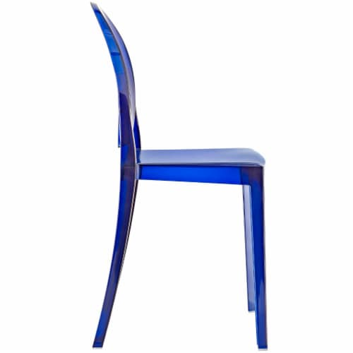 Casper Dining Side Chair - Blue Perspective: back