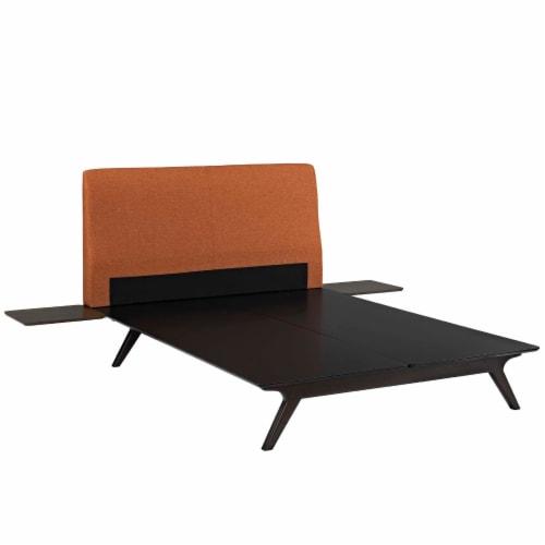 Tracy 3 Piece Queen Bedroom Set - Cappuccino Orange Perspective: back
