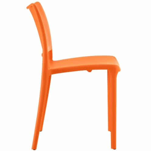 Hipster Dining Side Chair - Orange Perspective: back