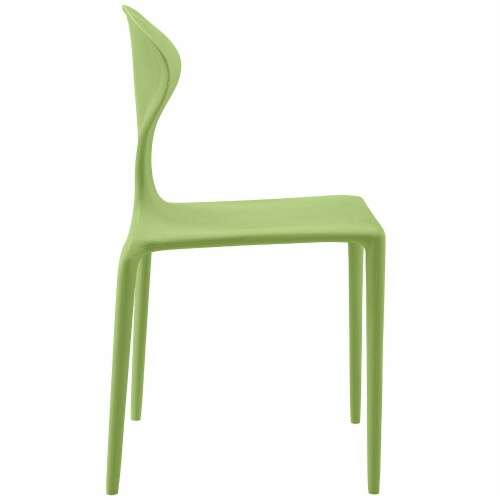 Draw Dining Side Chair - Green Perspective: back