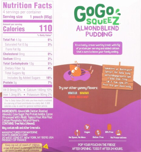 GoGo Squeez® Almond Blend Chocolate Pudding Perspective: back