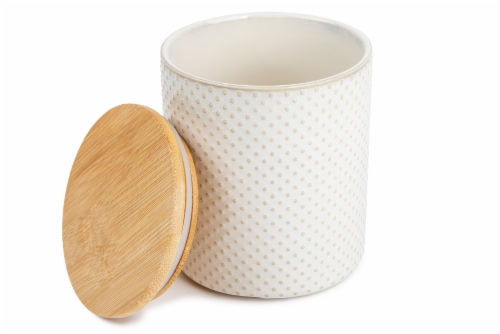 Core Home Small Textured Canister - White Perspective: back