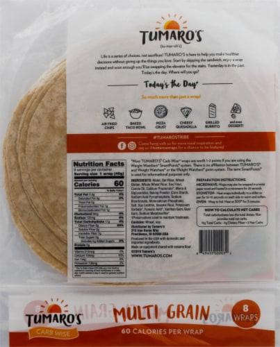 Tumaro's Low Carb Multi Grain Tortillas 8 Count Perspective: back