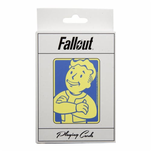 Fallout Vault Boy Playing Cards Perspective: back