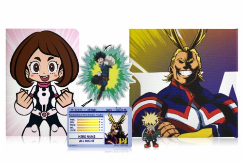 My Hero Academia LookSee Mystery Gift Box | Includes 5 Themed Collectibles | All Might Box Perspective: back