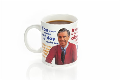 Mister Rogers Sweater Changing Mug | Sweater Changes With Heat | Holds 16 Ounces Perspective: back