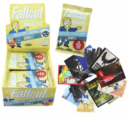 Fallout Trading Cards Series 2 | Sealed Hobby Box | Contains 24 Unopened Packs Perspective: back