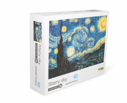 Starry Sky 1000-Piece Jigsaw Puzzle | Starry Night Puzzle 1000 | Van Gogh Puzzle Perspective: back