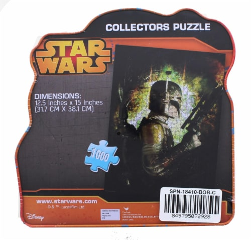 Star Wars 1000 Piece Collectors Tin Jigsaw Puzzle | Boba Fett Perspective: back