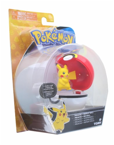 Pokemon Clip and Carry Poke Ball | 2 Inch Pikachu and Repeater Ball Perspective: back