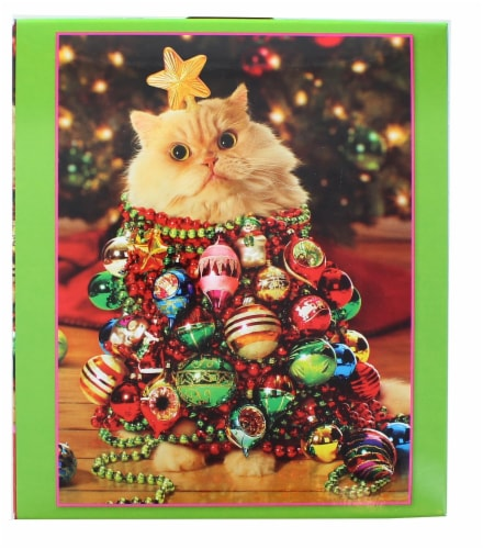 Ornament Kitty 550 Piece Christmas Jigsaw Puzzle Perspective: back