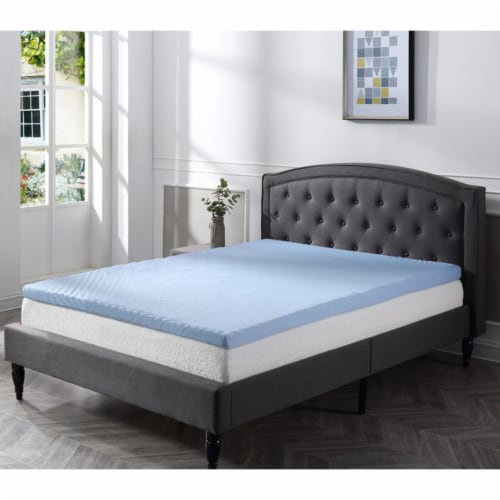 Classic Brands Cool Cloud 3 Inch Memory Foam Mattress Topper with Cover, King Perspective: back