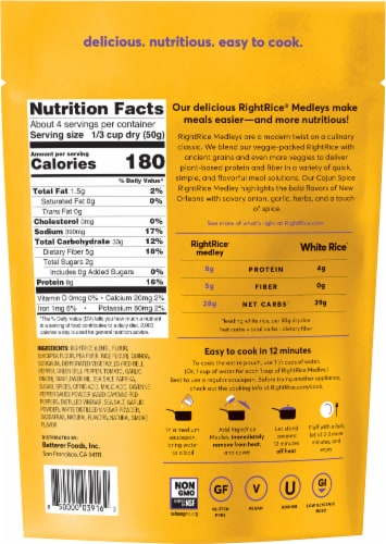 RightRice Ancient Grains Cajun Spice Medley Perspective: back