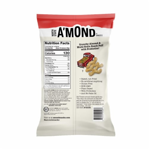 A'mond Smoked BBQ Almond Puffs Perspective: back