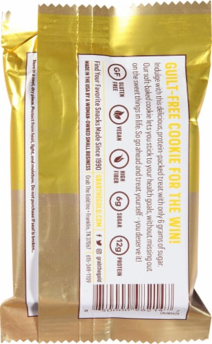 Grab the Gold Lemon Zest Protein Cookie Perspective: back