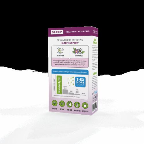 Kinderlyte Wild Berry Lavender Flavor Herbal Sleep Supplement Perspective: back
