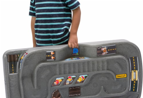 Simplay3 Grab N Go Road to Rail Table Playset Perspective: back