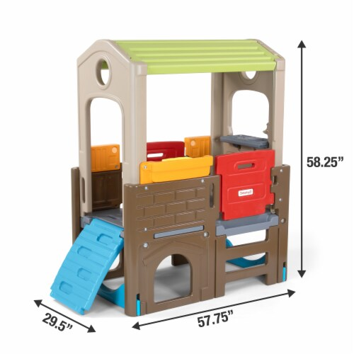 Simplay3 Young Explorers Indoor Outdoor Discover Playhouse Perspective: back