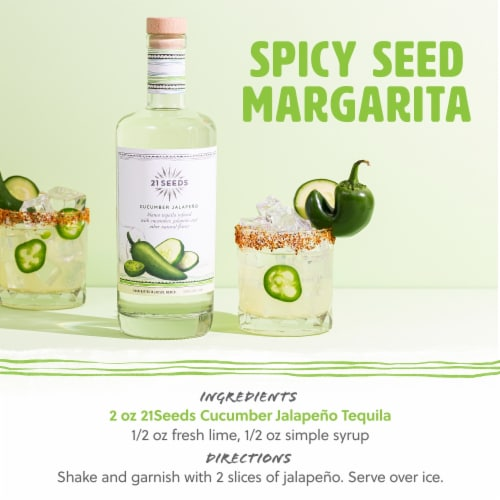 21 SEEDS Cucumber Jalapeno Infused Tequila Perspective: back