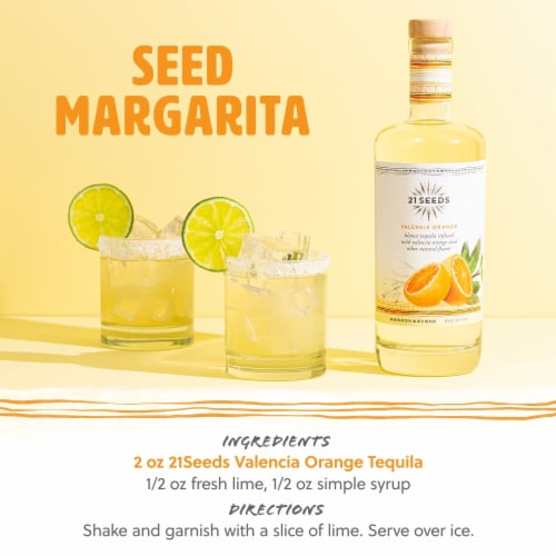 21 SEEDS Valencia Orange Infused Tequila Perspective: back
