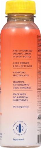 Lemon Perfect® Organic Peach Raspberry Cold-Pressed Lemon Water Perspective: back