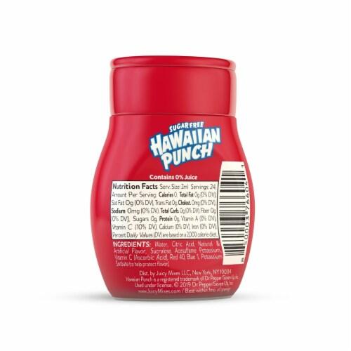 Hawaiian Punch Sugar Free Fruit Juicy Red Liquid Water Enhancer Perspective: back