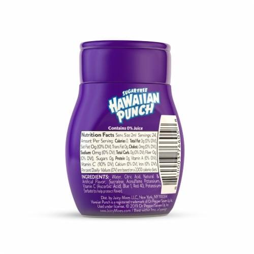 Hawaiian Punch Sugar Free Wild Purple Smash Liquid Water Enhancer Perspective: back