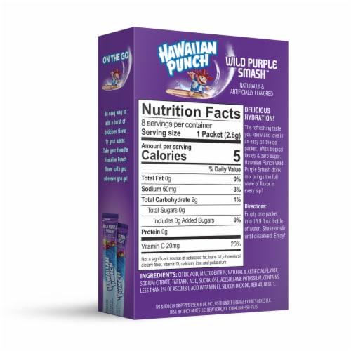 Hawaiian Punch® Sugar Free Wild Purple Smash Powdered Drink Mix Packets Perspective: back