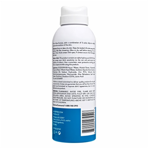 AcneFree Salicylic Acid Body Spray Perspective: back
