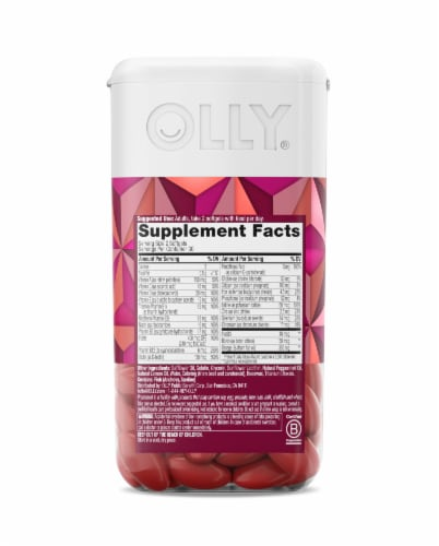 Olly Women's Multi + Omega-3 Ultra Softgels Perspective: back