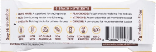 IQ Bar Peanut Butter Chip Protein Bar Perspective: back