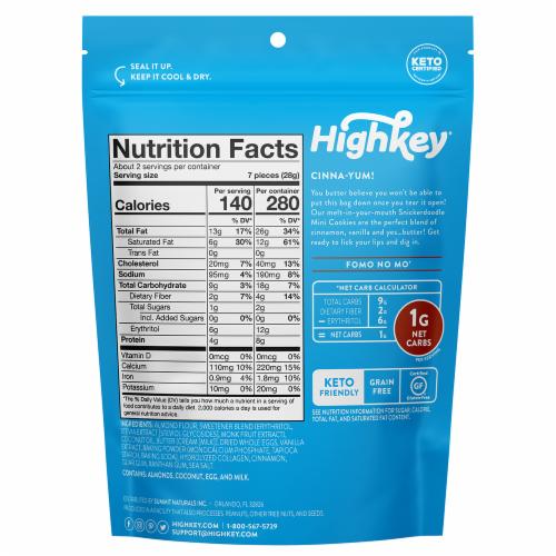 HighKey® Keto Snickerdoodle Mini Cookies Perspective: back
