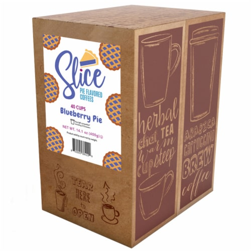 Slice Flavored Coffee Pods for Keurig K Cup Brewers, Blueberry Pie, 40 Count Perspective: back