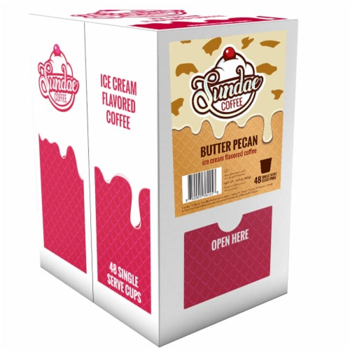 Sundae Ice Cream Flavored Coffee Pods, 2.0 Keurig K-Cup Compatible, Butter Pecan,48 Count Perspective: back