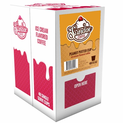 Sundae Ice Cream Flavored Coffee Pods, for 2.0 Keurig, Peanut Butter Cup, 48 Count Perspective: back