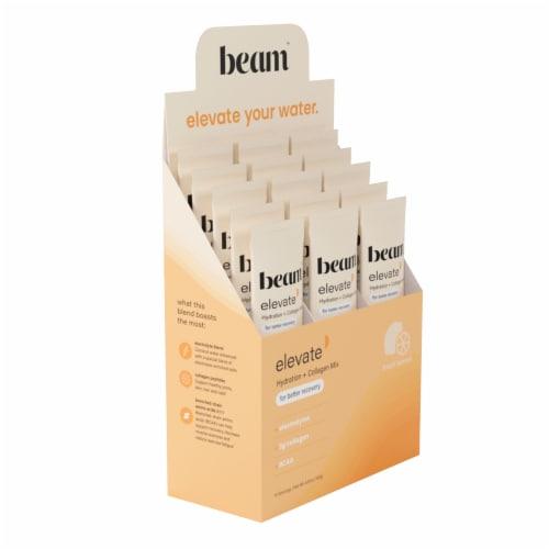 Beam Organics, Elevate Hydration Recovery, Fresh Lemon, 15 Single Serve Powder Packets Perspective: back
