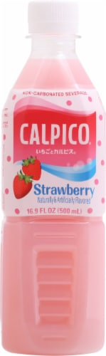 Calpico® Non-Carbonated Strawberry Soft Drink Perspective: back