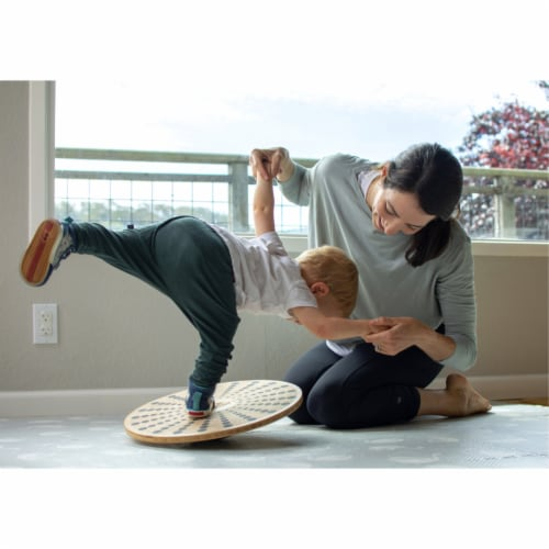 Kinderfeets 3631 Bamboo Balance Board Disk for Toddlers, Kids, Teens, and Adults Perspective: back