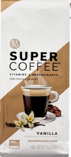 Super Coffee Vanilla Enhanced Ground Coffee Perspective: back